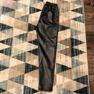Heavy Fleece Lined Leatherette Leggings
